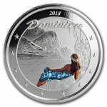 2018 Dominica 1 oz Silver Nature Isle  EC8 (1) coloured...