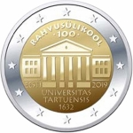 Estland 2 Euro 100 Years UNiversity of Tartu  bfr