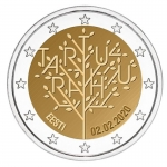 Estonia 2 Euro 100th Aniversary of the Treaty of Tartu 2020