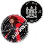 2020 Fiji 1 oz Silver BLACK WIDOW Natasha Romanoff Marvel...