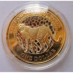 Fiji 8 x 1 Dollar Great Animals of the World 2009 coloured
