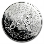 2010 France Silver ?5 Year of the Tiger BU (Lunar Series)