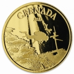 2018 Grenada 1 oz Gold Diving Paradise (01)  EC8