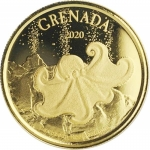 2020 Grenada 1 oz Gold Octopus (03)  EC8