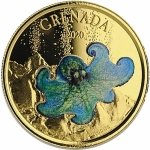 Grenada, 10 Dollar, Octopus  (3) 2020  EC8 1 Unze Gold, 1 oz  farbig Proof