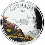 2018 Grenada 1 oz Silver Diving Paradise  (01)  EC8 Proof...