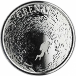 2019 Grenada 1 oz Silver Diving Paradise  (02) EC8