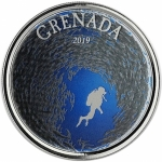 2019 Grenada 1 oz Silver Diving Paradise  (02) EC8 Proof...