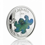 2020 Grenada 1 oz Silver Octopus  (03) EC8 Proof (Colorized)