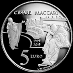 Italy 5 EURO 100th Anniversary of Death of Cesare Maccari...