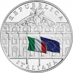 Italy 5 EURO 150 Years State Audit Office 2019 coloured...