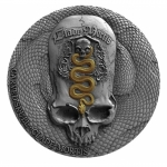 Kamerun 1 Oz Silber Carved Skull III Clade Mortis 2018 - Antique FinishFinish 1000 Francs