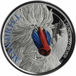 Cameroon 1 Oz Silver Mandrill 2020 Proof coloured 500 Francs