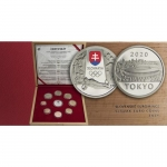 Coinset Olympic Games in Tokyo 2020 Proof in Wooden Box