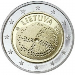 Lithuania 2 Euro Baltic Culture 2016 unc.