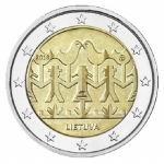 Lithuania 2 Euro singing and dancing festival 2018 unc