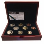 Luxembourg Coinset 2004 Proof incl. 2 Euro Monogramm