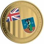 2018 Montserrat 1 oz Gold Emerald Isle of the Caribbean  (01) EC8 (Colorized) Proof