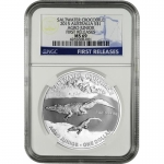 NGC PF-69 2015 $1 Australian Saltwater Crocodiles Agro Jr 1oz Silver First Releases