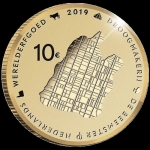 Netherlands 10 Euro Gold 2019 Beemster  Proof