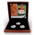Netherlands 3 x 5 Euro Silver coloured Johan Cruijff...