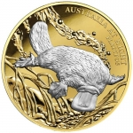 Niue 1 Oz Gold Platypus Australia at Night 1 Unze Gold...