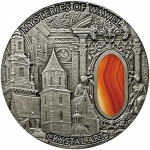 2013 Niue 2 oz Silver Crystal Art - MYSTERIES OF WAWEL...