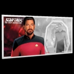 Niue Islands 1 Dollar Star Trek The Next Generation Riker...