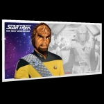 Niue Islands 1 Dollar Star Trek The Next Generation Worf 5 g Silber Münznote, 2019,