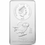 Niue Islands 1 Kilo Silver 50 Dollar Silverbar Owl of Athen 1000 g, 2019,