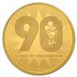 Niue Islands 1 Oz Gold Disney 90 Jahre  Mickey Mouse 250...