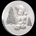 Niue Islands 2 $ - 1 Oz Silber Mickey Christmas 2019 BU