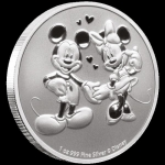 2020 Niue 1 oz Silver $2 Disney Mickey & Minnie Mouse BU