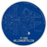 Niue Islands 2 $ - 1 Oz Silber Millenium Falcon Star Wars Ships 2017 Proof