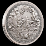 Niue Islands 2 Dollar Ali Baba und die 40 Räuber , 2019, 1  Unzen Silber Antique Finish 1 oz,