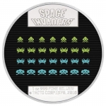 Niue Islands 2 Dollar Arcade Space Invaders 1 Unze Silber...