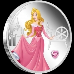 2020 Niue Disney Princess With Gemstone - Aurora 1oz...