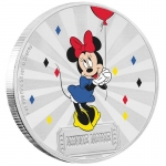Niue Islands 2 Dollar Disney: Mickey Mouse und Friends - Carnival, Minnie 1 Unze Silber , 1 oz, 2019,