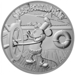 2020 Niue 1 oz Silver $2 Disney Steamboat Willie Mickey...