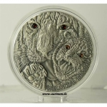 Niue Islands 1 Dollar Wildlife Family Tiger, 1 Unze...