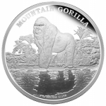 2015 $2 Endangered Species - Mountain Gorilla 1 Oz Silver Proof