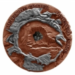 Niue 2018 $1 Meteorite Crater Upheaval Antique Finish Proof