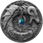 Niue 2019 $5 Norse Dragon 2 Oz Silver  Antique Finish Proof