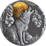 Niue 2020 $5 GRAY WOLF Wildlife In The Moonlight 2 Oz...