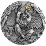 Niue 2020 $5 HORUS Gods of Anger 2 Oz Silver partly...
