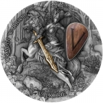 Niue 2020 $5 Woman Warrior VALKYRIE 2 Oz Silver partly...