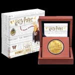 Niue Islands 25 $ - 1/4 Oz Gold Harry Potter Hogwarts...