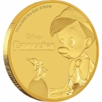 Niue Islands 25 Dollar Disney: 78 Jahre Pinocchio 1/4...