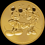 Niue Islands 250 $ - 1 Oz Gold Mickey & Minnie Mouse...