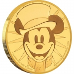 Niue Islands 250 Dollar Disney: Mickey - Christmas Carol,  1 Oz Gold, 2017,